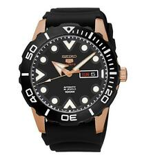 SEIKO MEN'S 5 SPORTS 45MM SILICONE BAND STEEL CASE AUTOMATIC WATCH SRPA12