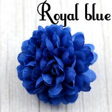 20pcs Royal Blue Fake Daisy Flowers Heads Bulk Artificial Silk Carnation Flowers