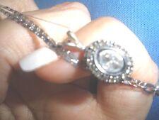 RADIANT CLEAN ANTIQUE GENUINE 1 CT OLD ROSE CUT DIAMOND 14K PENDANT, NECKLACE