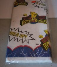 Mighty Morphin Power Rangers Paper Party Table Cloth 89x54 1995 NIP