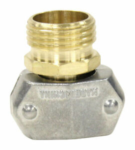 Gilmour 831104-1001 Male Brass Professional Hose Clamp Connector 5/8 x 3/4 in.