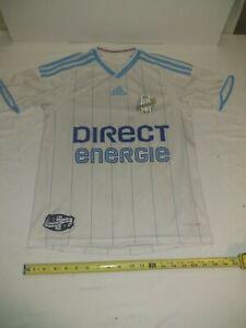 Olyimpique De Marseille 2009 Direct Energie Adidas Clima Cool Soccer Jersey Sz L