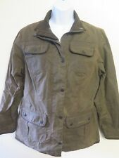 Ladies Barbour L1091 Utility Jacket Waxed Cotton UK 12 Euro 38 in Green