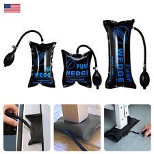 3PCS Inflatable Shim Air Pump Wedge Kit Entry Car Door Window Opener Hand Tools