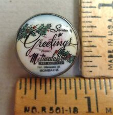 CHRISTMAS Motiwala GIVEAWAY - Painted Porcelain Set in Silver BUTTON, Scarce