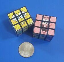 SpongeBob SquarePants Miniature 1-1/8 Inch Puzzle Cubes - Set of 2 - 3X3X3