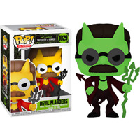 Flanders Devil Glow GITD The Simpsons Funko Pop Vinyl New in Box