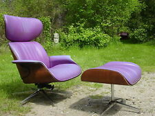 Vintage 1960s Eames lounge chair & ottoman Plycraft Mulhauser mid century modern