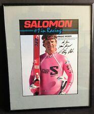 New listing Franz Weber Original Autographed Photo World Speed Skiing Champion