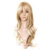 Women's Fashion Wig Curly Hair Wigs With Bangs Long Blond Cosplay Fancy Dress