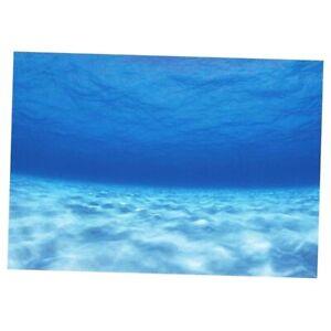 1pc Fish Tank Background 3D Underwater Backdrop Sticker Decor Wallpaper 122x46cm