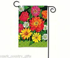 "BreezeArt Garden Mini Garden Gate Flowers Bright Colorful Flag 12.5"" x 18"" New"