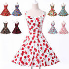 ❤Grace Karin❤1950s 1960s Vintage Floral Housewife Wiggle Prom Homecoming Dresses