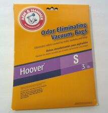 Hoover Vacuum Bags Size S Arm & Hammer Odor Eliminating 3 Pack Type S