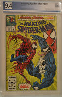 AMAZING SPIDER-MAN #378 (Jun 1993) PGX 9.4 (NM) Like CGC - White Pages - Carnage