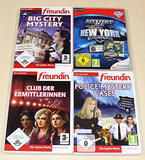 4 PC SPIELE SAMMLUNG POLICE MYSTERY BIG CITY P.I. WIMMELBILD FREUNDIN KRIMI