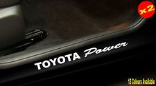 Stickers for TOYOTA POWER 4x4 Car ute door sill vinyl cut decal 400mm (x2)
