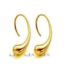 Designer Inspired 18K Yellow Gold Filled Hypo-allergenic Teardrop Drop Earrings
