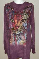 The Mountain Abyssinian Cat Adult Large Long Sleeve T Shirt 2013 Dean Russo Euc