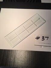 """Vintage 8"""" Flat Modern Glass Chandelier Prisms / Crafts"""