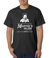 Morrie's Wig Shop T-Shirt - Gangster Mafia Mob Boss Halloween Costume Funny Tee