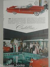 1956 Cadillac ad, Cadillac 62 convertible, color photo