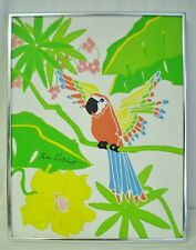 Early Shari Hatchett Bohlmann Original Tropical Parrot Painting 18x14 Pop Art