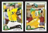 2014 Topps OAKLAND ATHLETICS  A'S Team Set 1 & 2 w/ Update 43 Cards