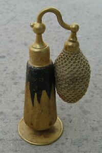 """Antique DeVilbiss 1920""""s Perfume Atomizer Gold Encrusted with Original Box"""