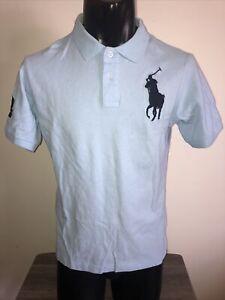 Polo Ralph Lauren Boy's Large Cotton Mesh Polo Shirt - Blue