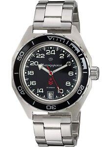 Vostok Komandirskie 650541 Russian Military Wrist Watch Automatic 24 Hours