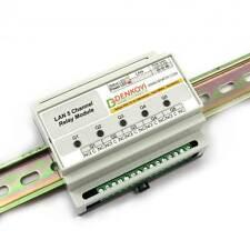 Web controlled 5 relay module DIN RAIL BOX: SNMP, HTTP, XML