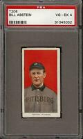 1909-11 T206 Bill Abstein Piedmont 350 Pittsburg PSA 4 VG - EX