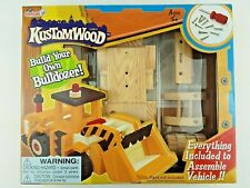 NEW- Kustomwood Build Your Own Bulldozer Wood Kit Ages 5+ Hobby Models