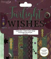 TWILIGHT WISHES Dovecraft Premium 6 x 6 Sample Paper Pack - 12 Sheets 150gsm