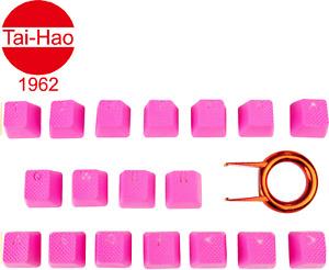 Tai-Hao TPR Rubber Backlit Double Shot 18 Keys Neon Pink