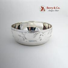 Squirrel Acorns Oak Leaves Baby Bowl Tiffany Co Sterling Silver 1930