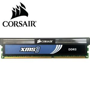 CORSAIR 1X 4GB XMS3 Memory DDR3 1600MHz PC3 12800U Desktop RAM XMS3 1.65V