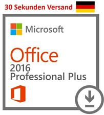 MS Microsoft Office 2016 Professional Plus Key 32/64 Bit Vollversion Deutsch PRO