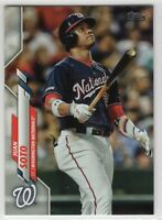 2020 Topps Washington Nationals Team Set Series 1 2 and Update