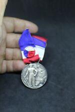 Médaille argent massif 1er titre poinçon Syndicat des Entrepreneurs