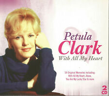 PETULA CLARK With All My Heart 2xCD 1950's 1960's POP Stage & Screen JIMMY YOUNG