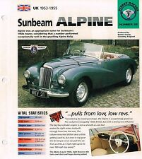 1953/1954/1955 SUNBEAM ALPINE IMP Brochure