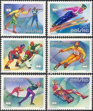 Poland 1976 Winter Olympics/Sports/Games/Ice Hockey/Shooting/Skiing 6v (n43584)