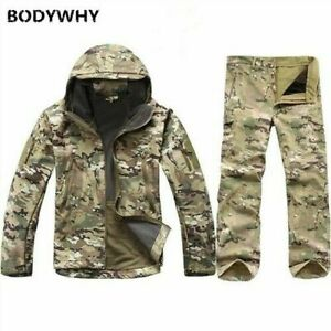 Warm Camouflage Army Military Cotton Jackets for Men Thick Velvet Jacket