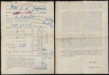 INDIA RAILWAY 1932 LUGGAGE TICKET to LAHORE