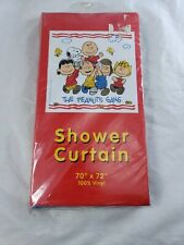Hand Screened Snoopy Peanuts Gang Vinyl Shower Curtain Brand New NOS Rare