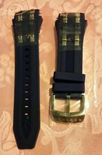 Authentic Replacement Band for Invicta Watch 6433 Reserve Rubber Blue/ Steel