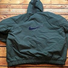 90s VTG NIKE AIR BIG SWOOSH Logo XL PARKA Jacket QUILTED Hooded PUFFER OG Bomber
