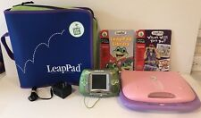 Leap Frog LeapPad Bundle Leapster Read Aloud Leap Pad 2 Books Carry Cases